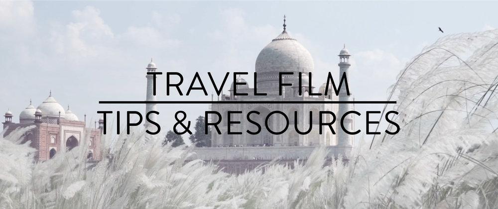 travel filmmaking resources