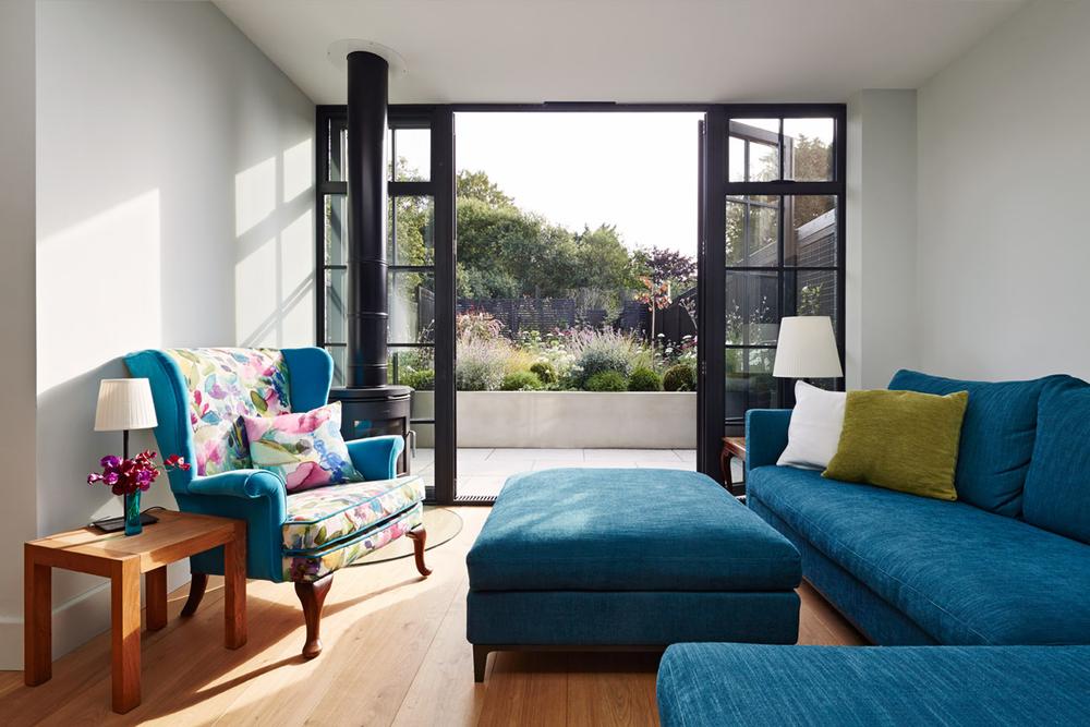House C Living Garden, Architecture, Interiordesign, London, Extension, Black Bricks, Modern, Elegant, Bonds Green