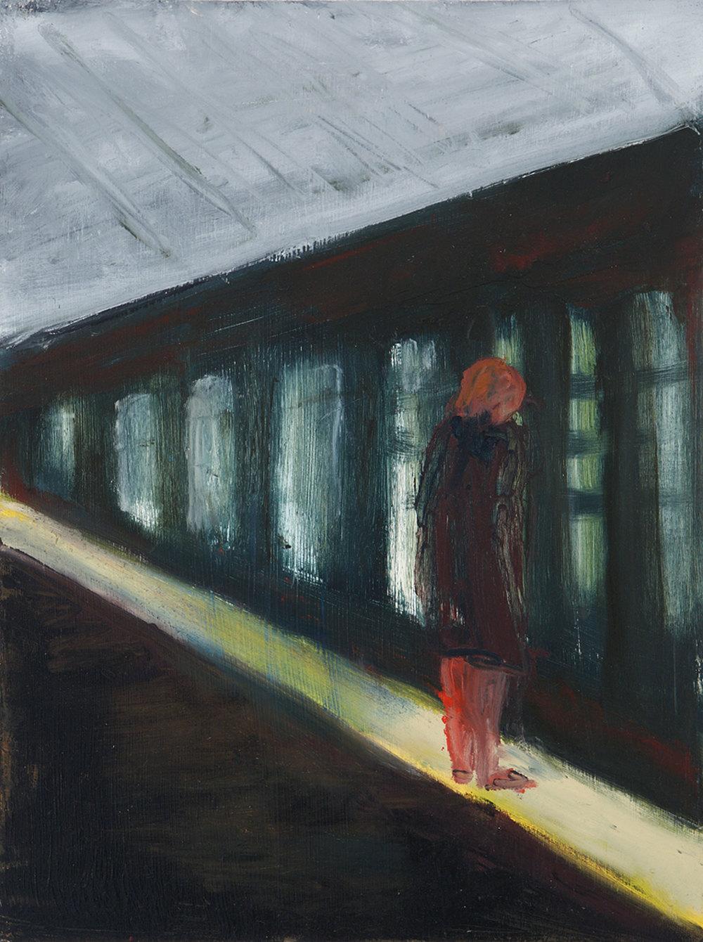 "Subway.   9"" x 12"", 2010."
