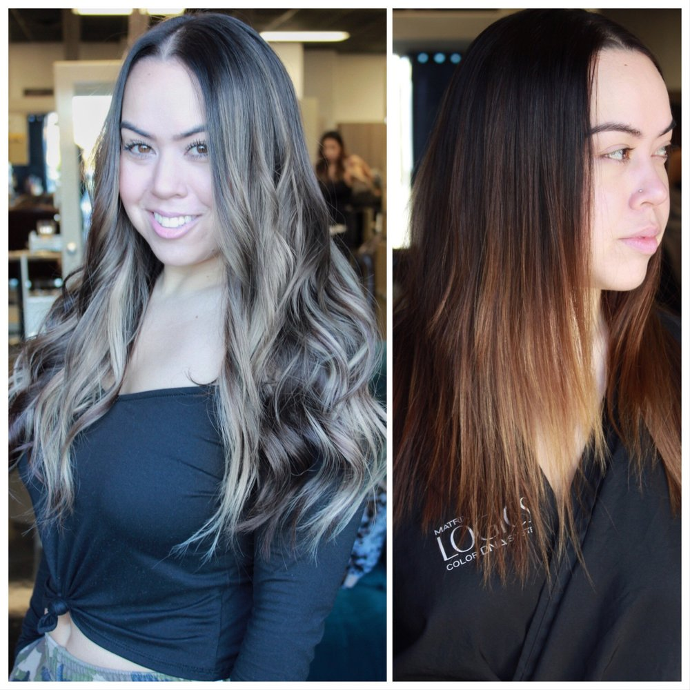 20'' Noir and Custom Colored Champagne Extensions -