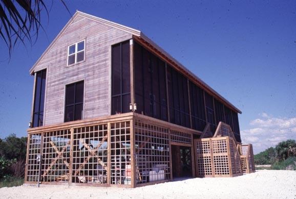 Custom home designed by Duany Plater-Zyberk & Company, Sanibel Island, Florida.