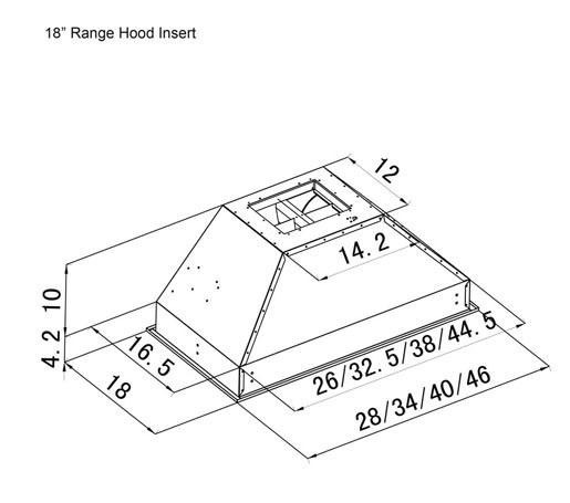 Outdoor Range Hood Insert 698 18 Deep Zline Kitchen