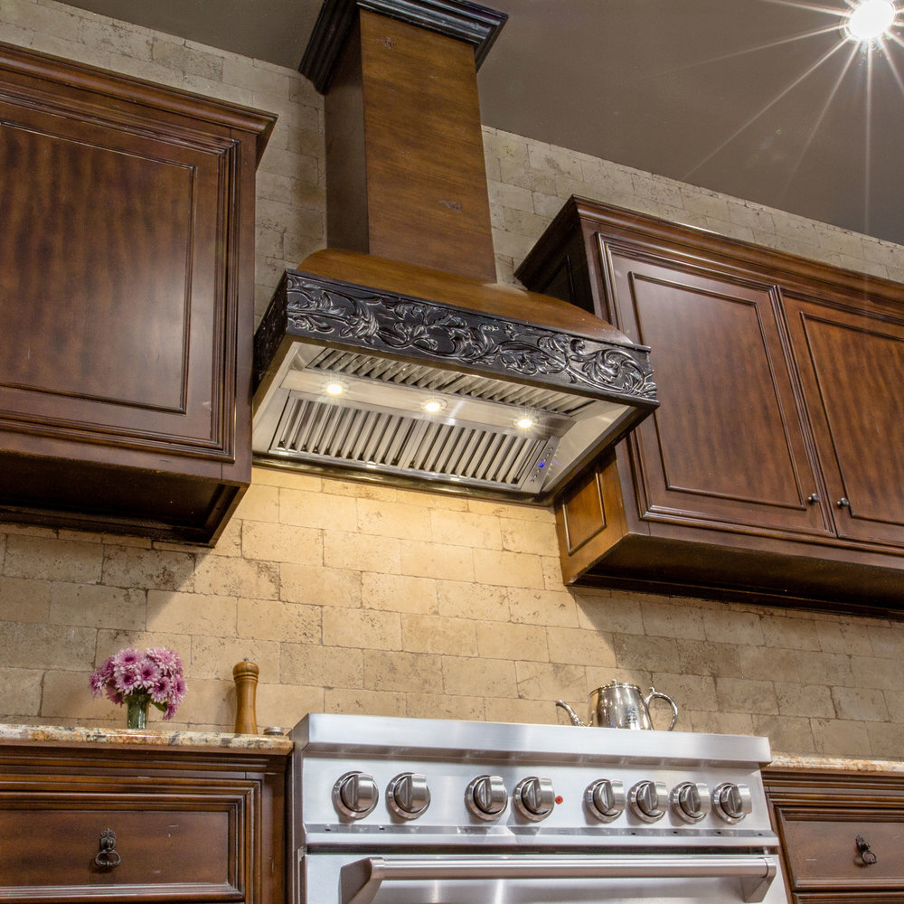 Zline Designer Wood Range Hood 393AR Kitchen 2.
