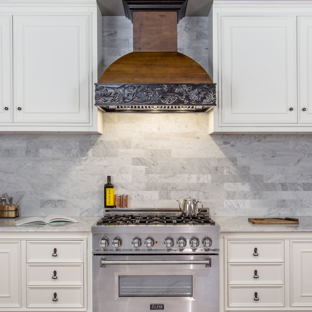 Kitchen Design Range Hood: Wooden Crafted 393AR
