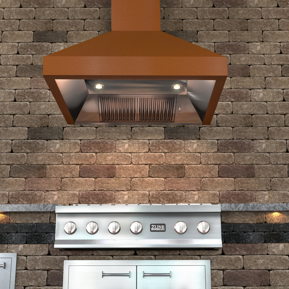 zline-copper-wall-mounted-range-hood-8667C-outdoor-2.jpg