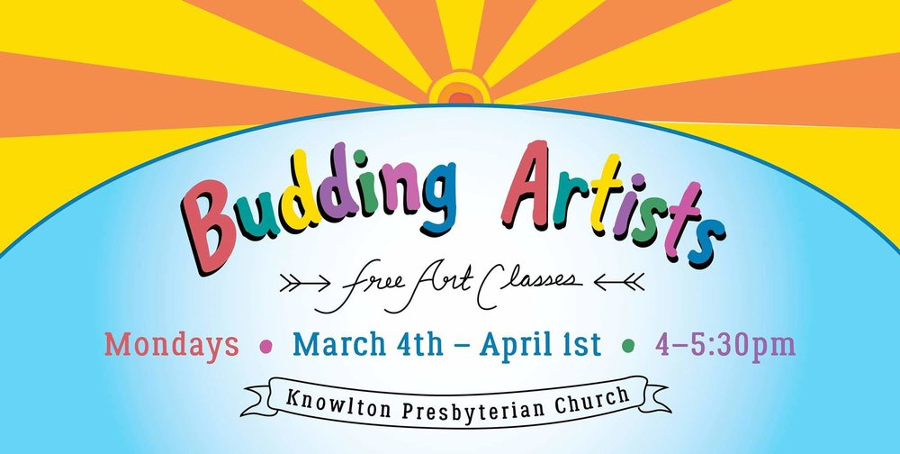 Budding Artists - Come join us for free art classes, exploring a variety of art media.