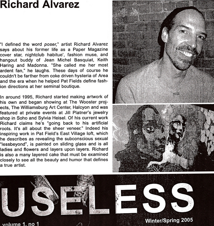 Richard Alvarez featured in Useless Magazine