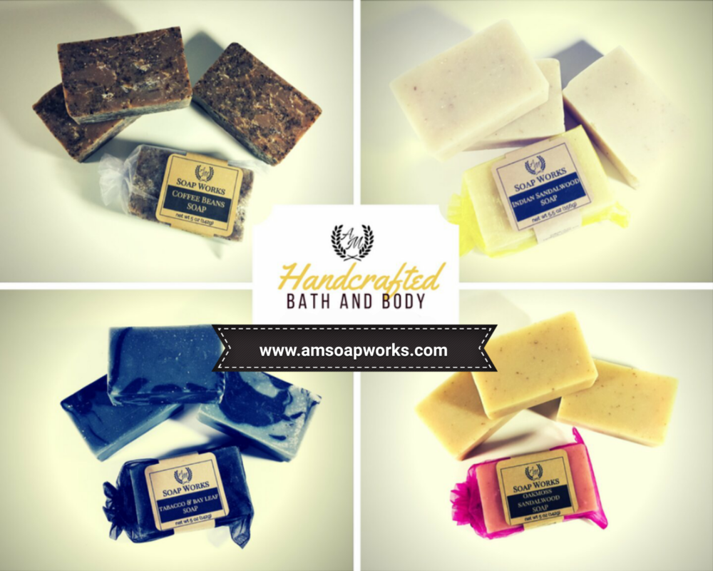 A + M Soap Works - Handcrafted soaps and bath products.Website: www.amsoapworks.com