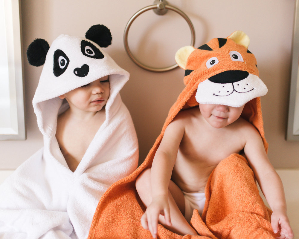 Yikes Twins Hooded Towels - Say goodbye to bath time troubles!! Your little ones will beg you to bathe just so they can get out and wear these fun and imaginative hooded towels. YIKESTWINS.com offers top quality, 100% cotton, hooded towels in a variety of unique styles. Website: www.yikestwins.com