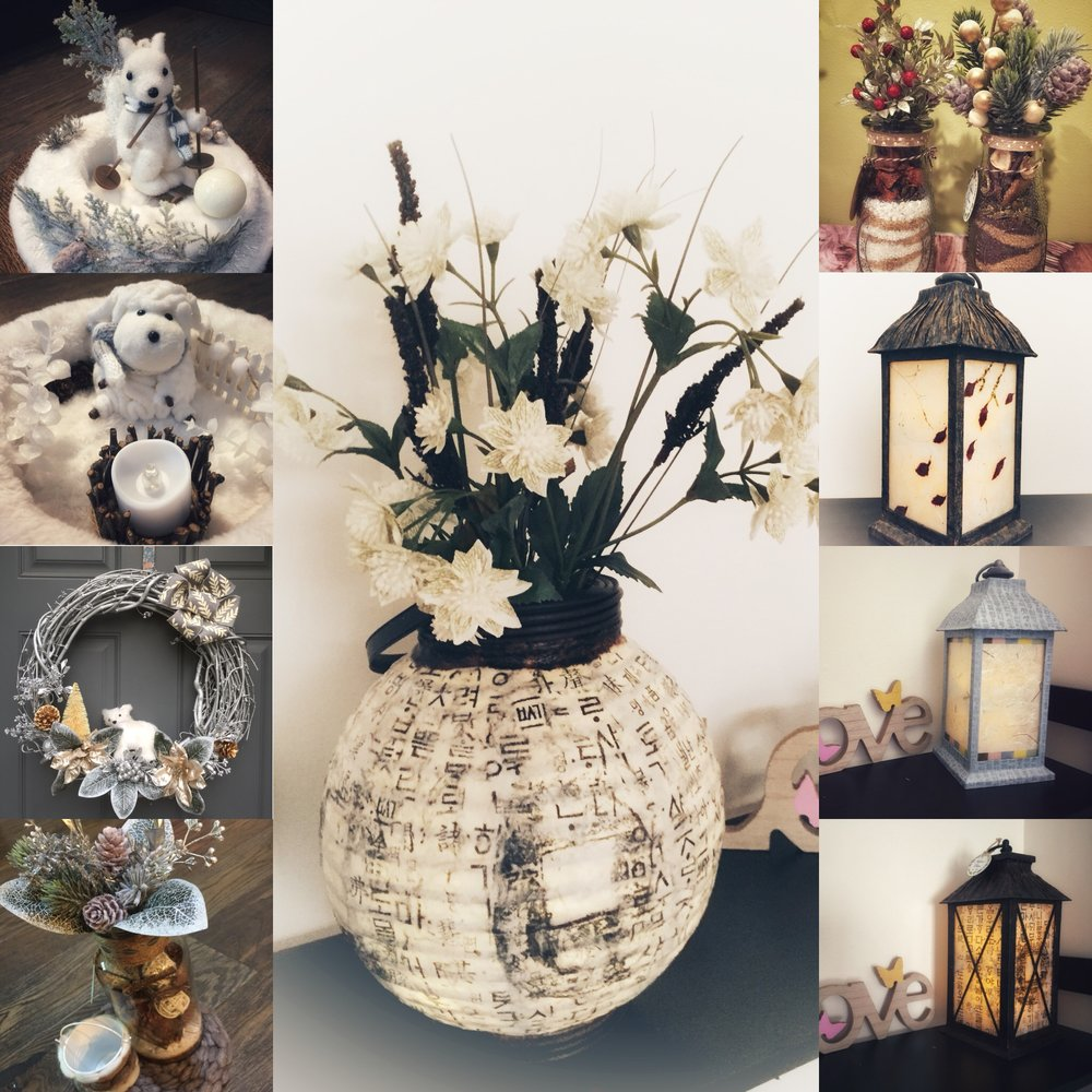 Nature's Decor - Traditional Korean Paper art (Lanterns & Vases), Seasonal decoration ( floral, wreaths, centerpieces)https://www.instagram.com/irisjw00/