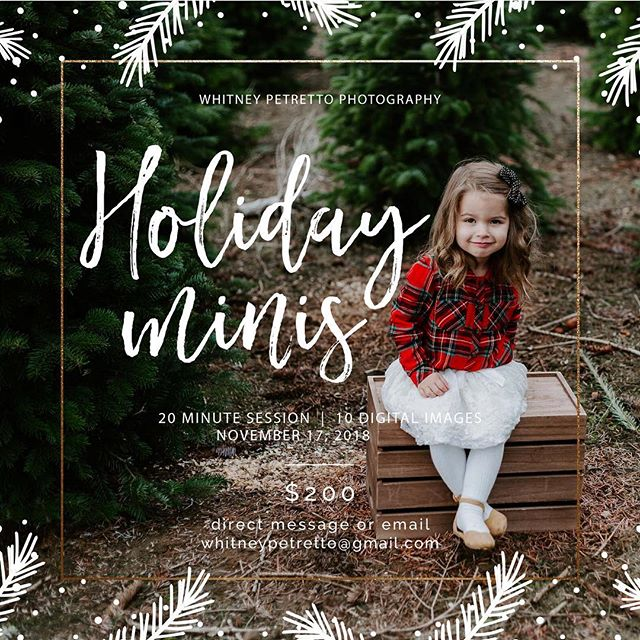 Charlie and I went and made plan for my mini sessions next weekend and we couldn't be more excited!! I have just a few spots left!  Oh and in case you think your kid is the only one with a ridiculous grin... this one has one too 😂😂😂 #holiday #christmastrees #ilovechristmas #thatgrin  Also - her adorable bow is by @littlechickieshop - love them!!