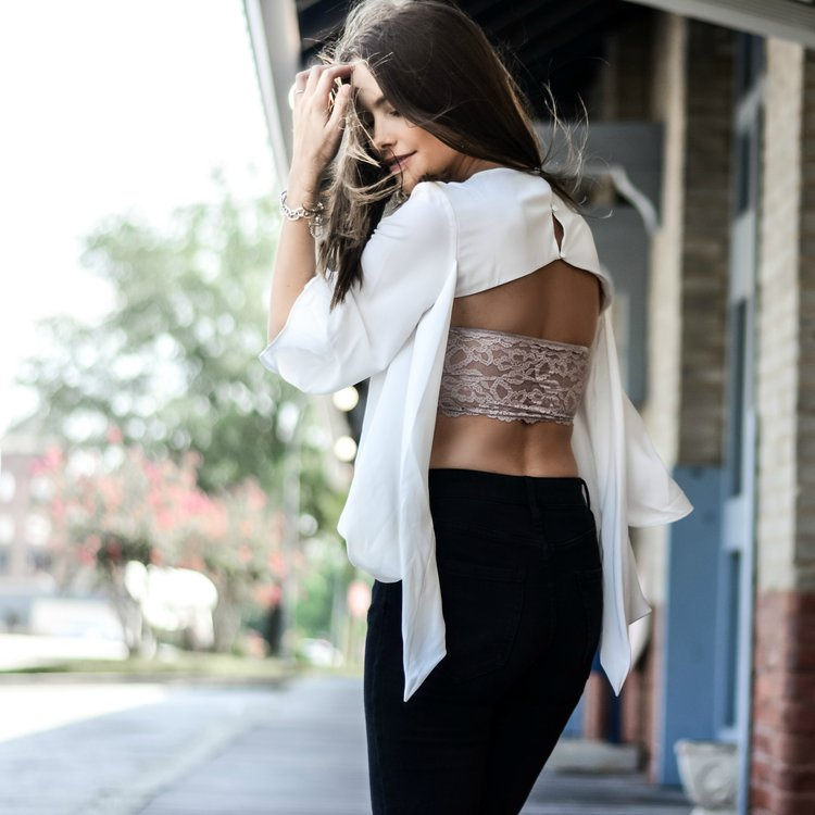 Add this bandeau to your wardrobe to achieve the same look as Manda Lee