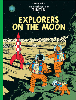 Tintin Explorers on the Moon cover