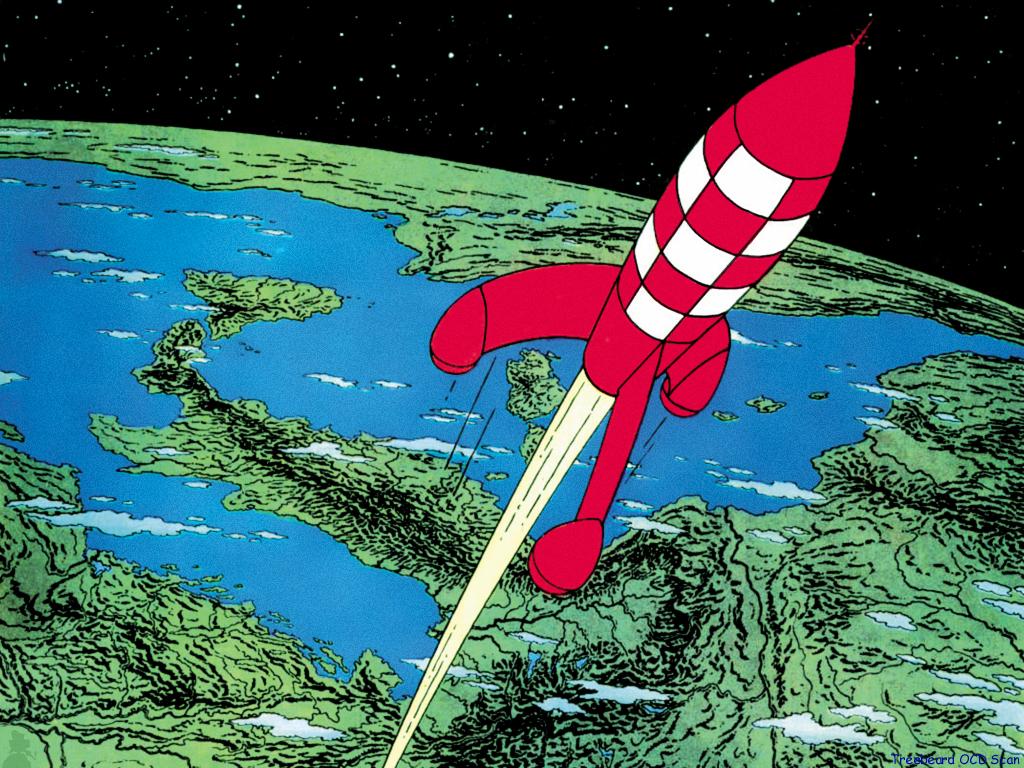 Tintin moon landing