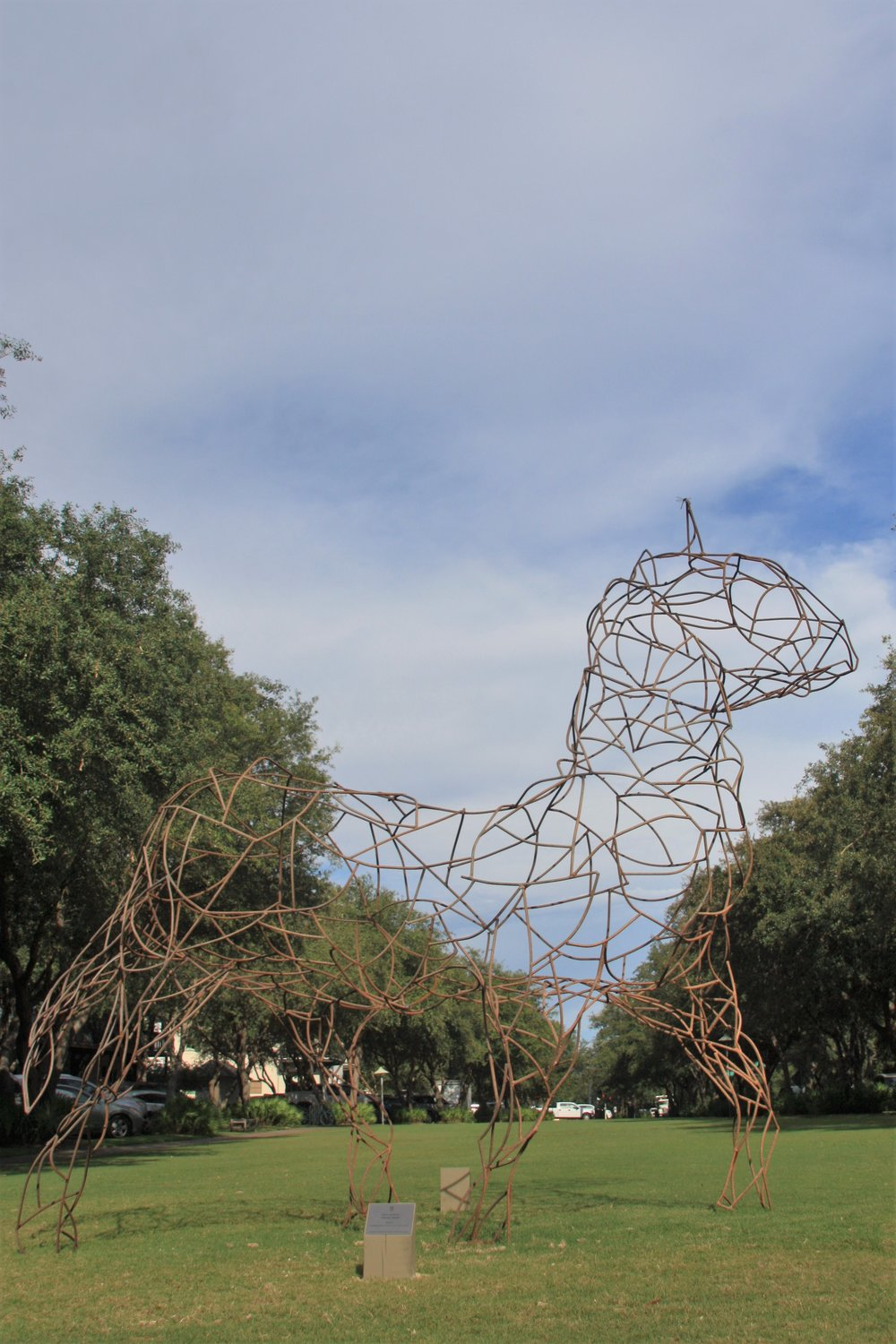 "Site 10 - Crag Gray, b. 1969Key West, FLSeahorse, 2016Steel11'x4'x7'$9,500       ""Exploring the external dimensions and the inner soul of an animal we call the horse."""