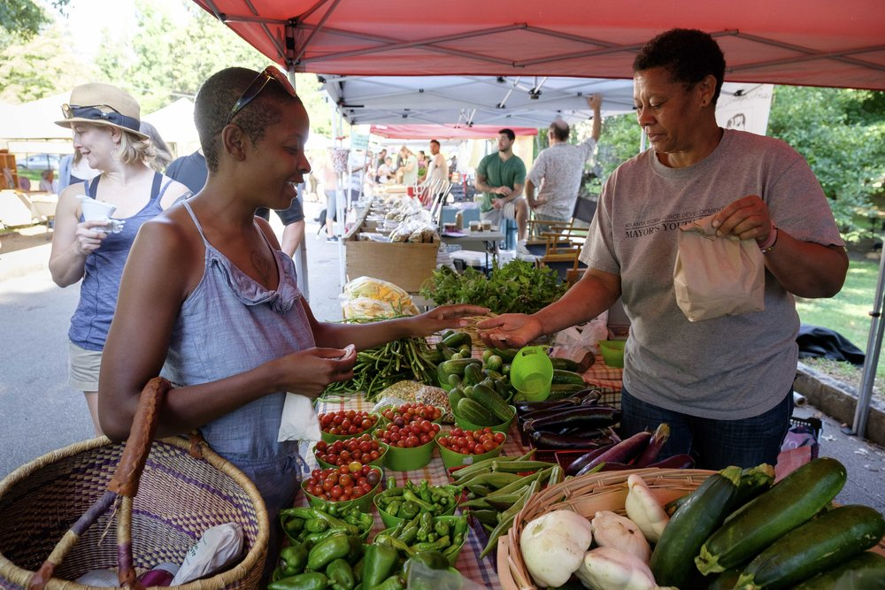 This Atlanta farmer's market runs the SNAP matching program | Image credit: Adam Komich