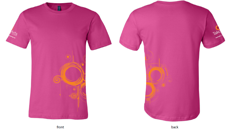 New sizes available for TAM pink berry shirts