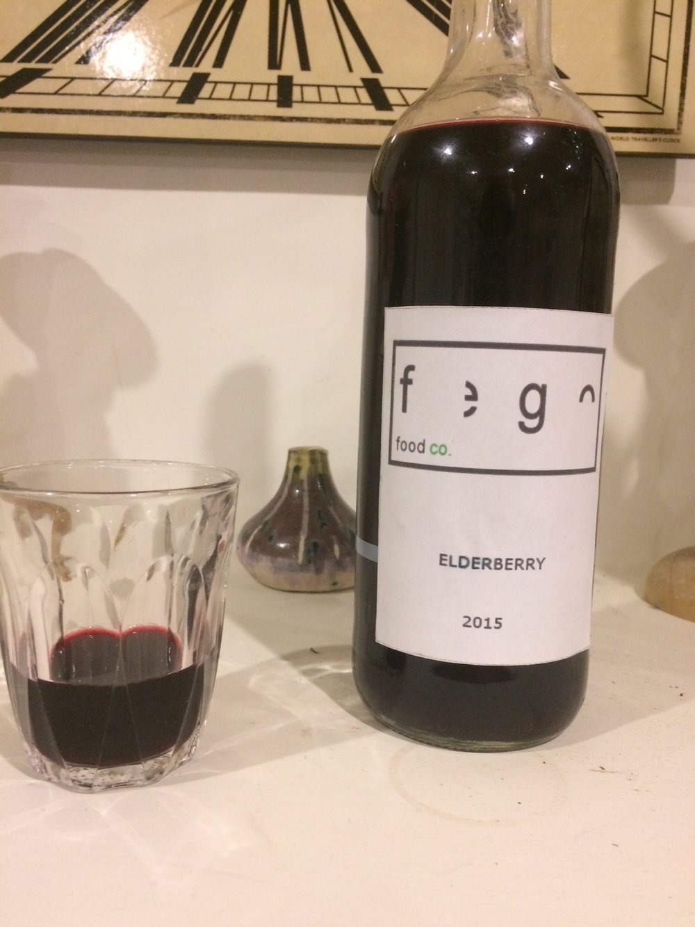 Fego Food Co. 2015 Elderberry wine