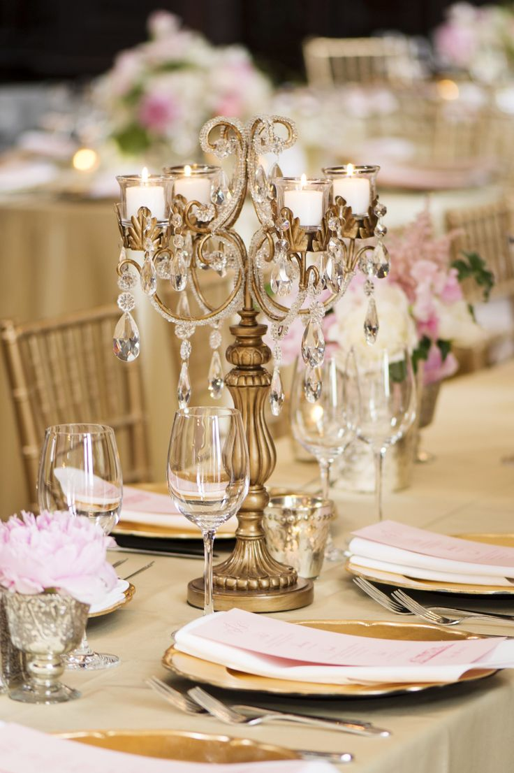 Gold Vines Taper Candelabra by Opulent Treasures | Wedding Table Ideas