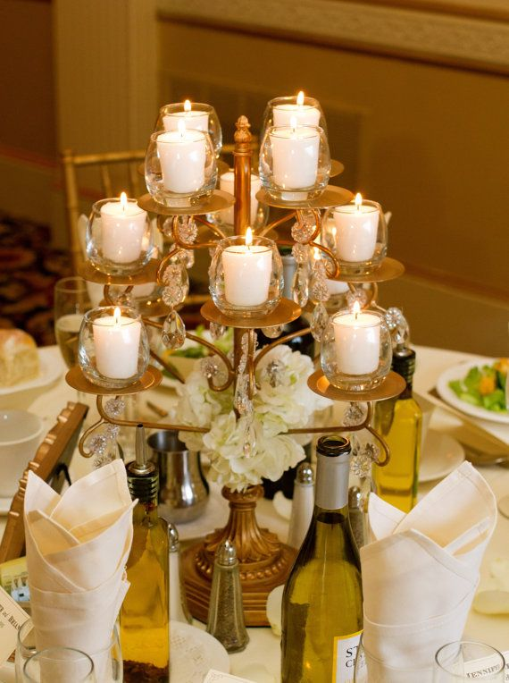 Chandelier Cupcake Stand | Tealights | Tablescape Ideas | Opulent Treasures