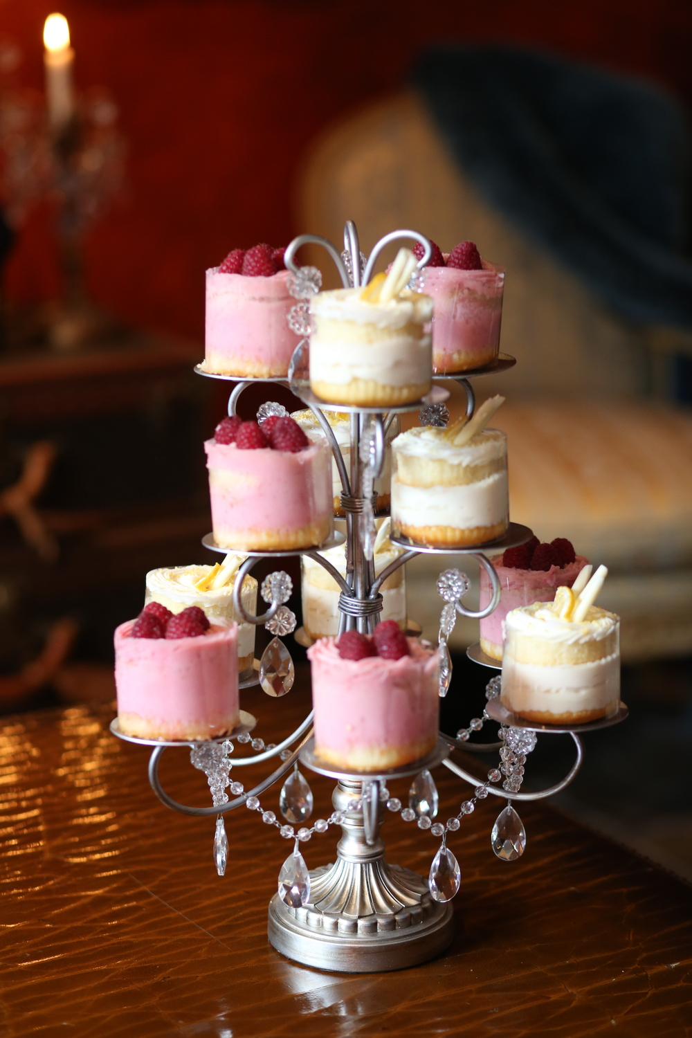 Mini Desserts | Gold Chandelier Cupcake Stand | Opulent Treasures