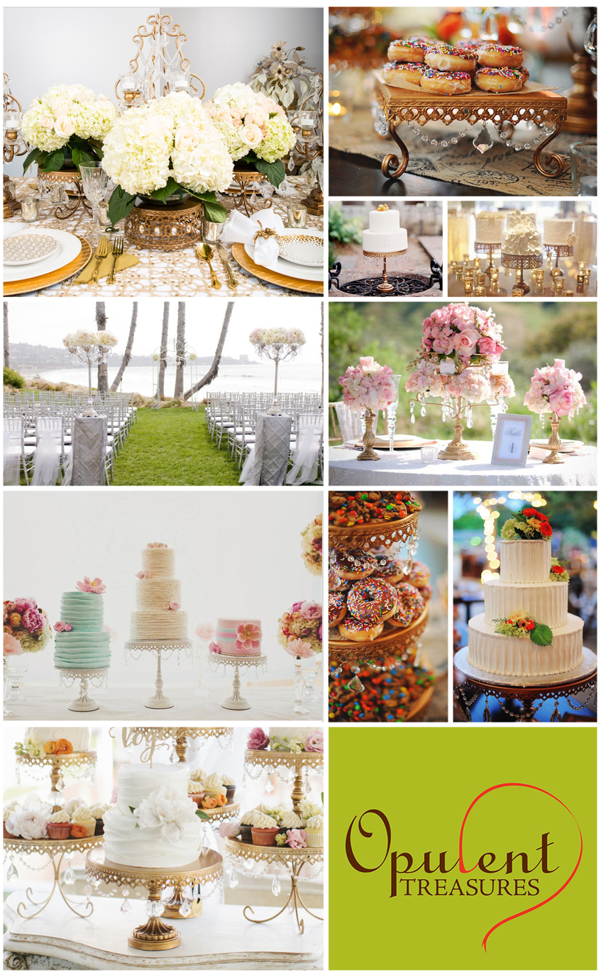 Cake and Dessert Plates and Stands | Candelabras for Weddings and Events