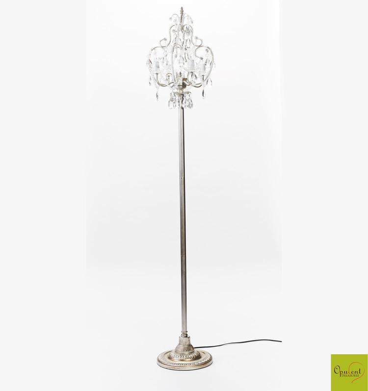 chandelier floor lamp ikea draped jewels home lighting