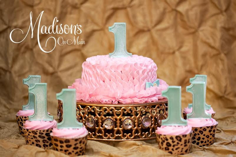 old Moroccan Jeweled Cake Stand | 1st Birthday Cake