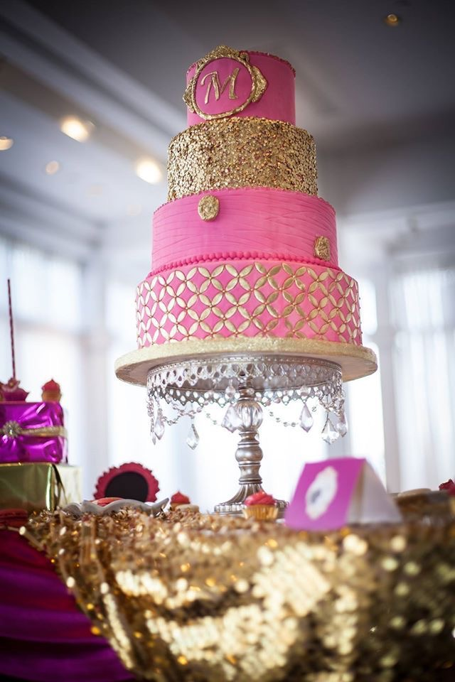 Silver Chandelier Ball Base Cake Stand