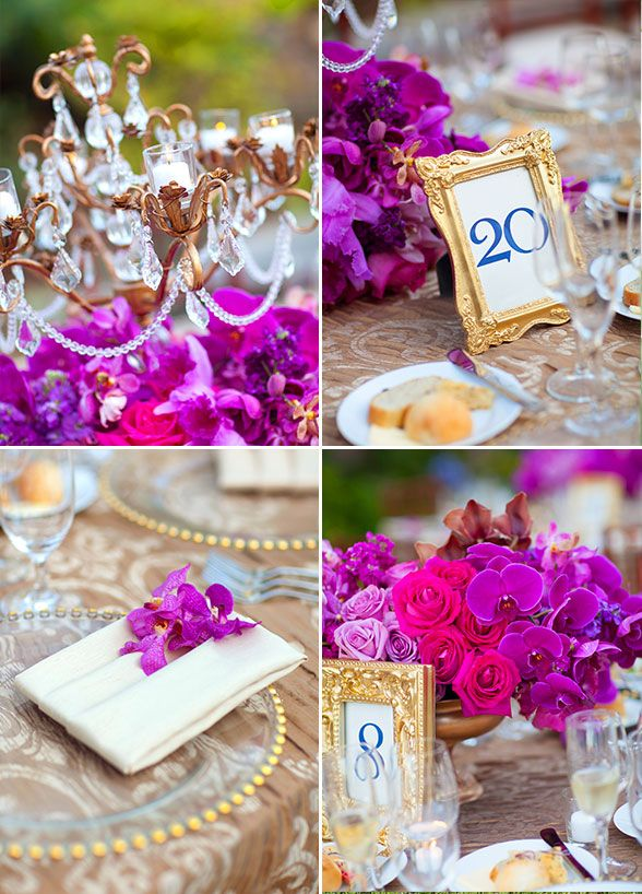 Tablescape Inspiration | Gold & Magenta