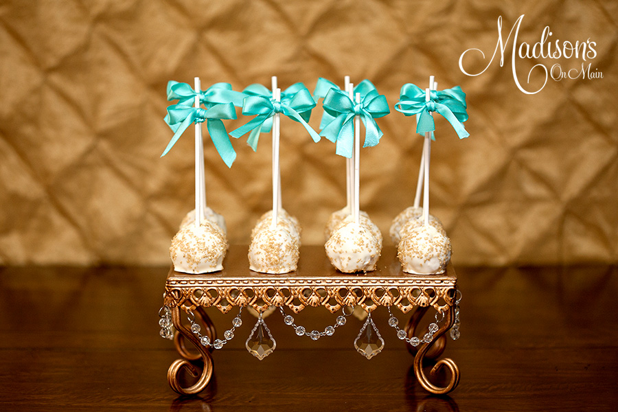 Gold Square Chandelier Cake Stand | Cake Pops