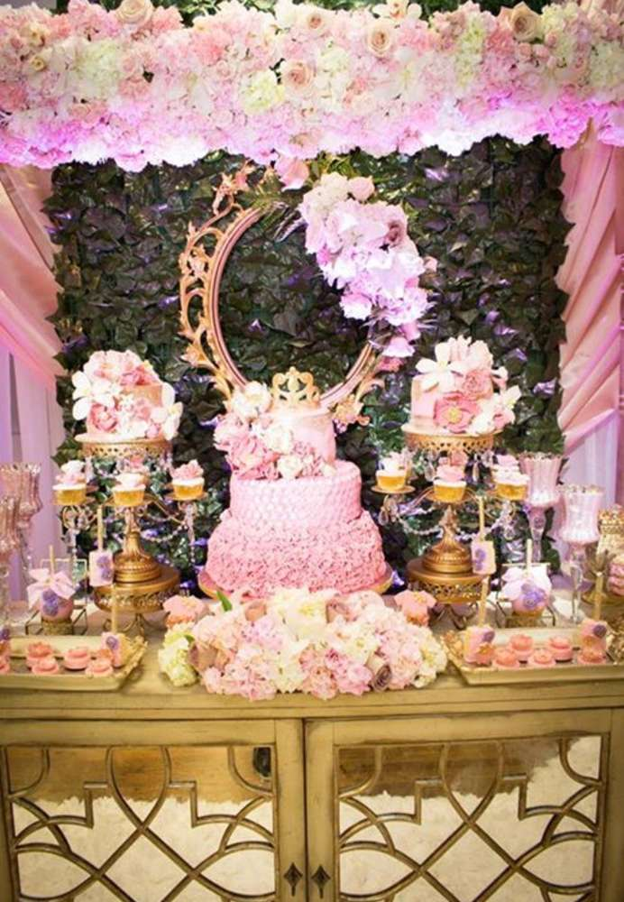 Gold & Pink Dessert Table