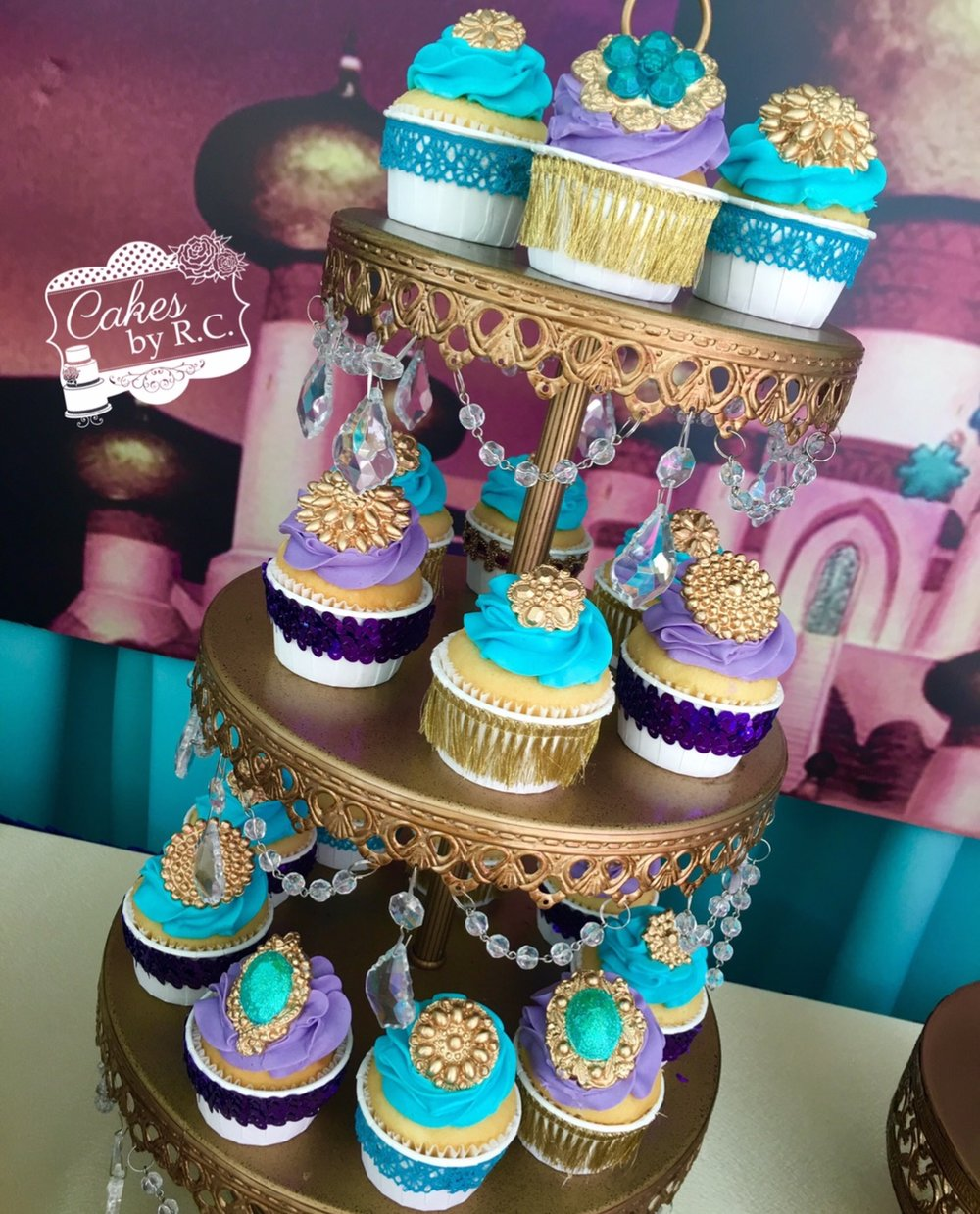 Gold Tiered Dessert Stand by Opulent Treasures