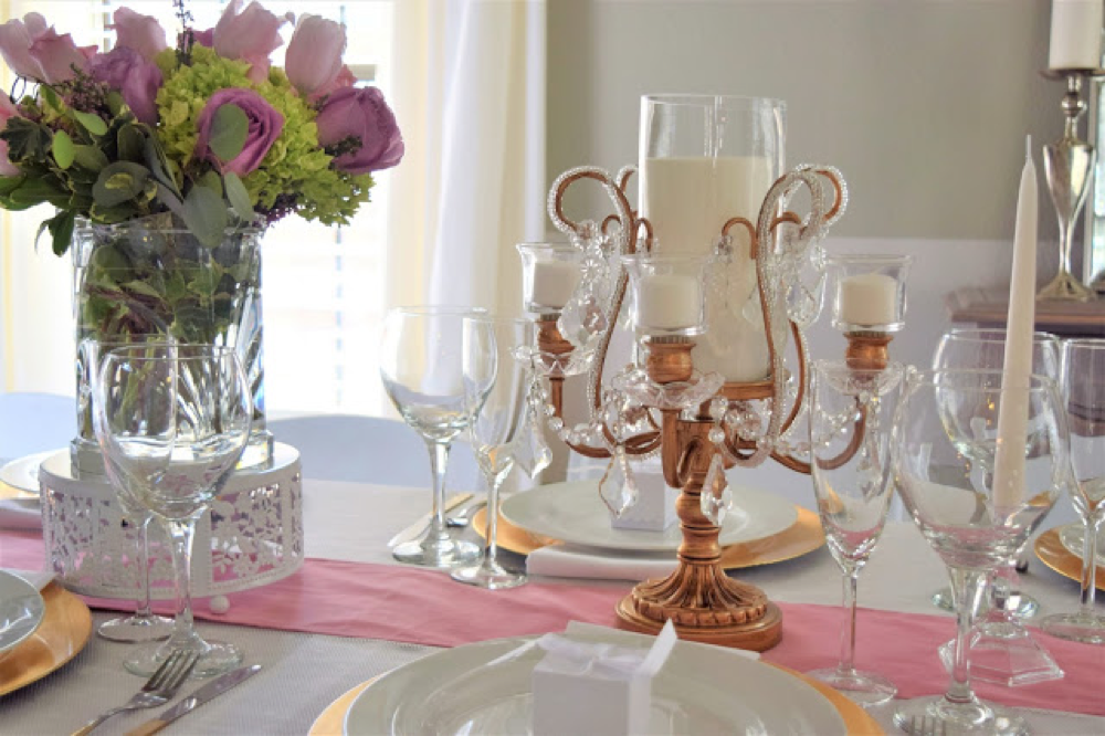opulent treasures bouquet  candle candelabra