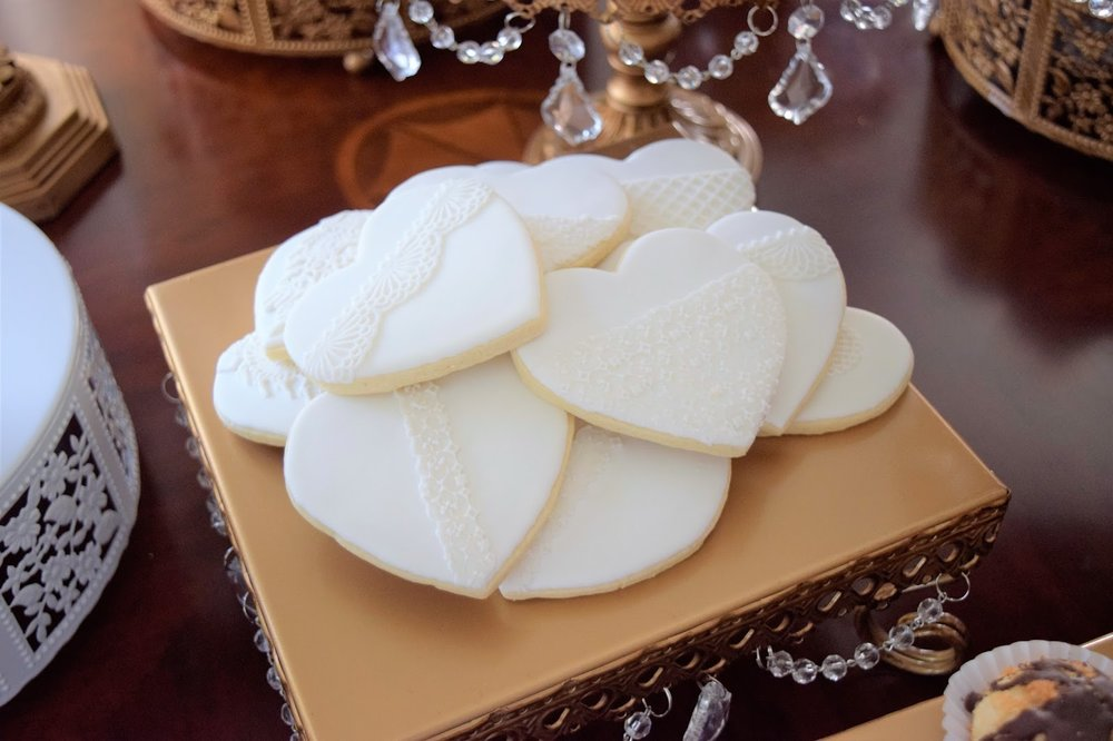 opulent treasures heart cookies
