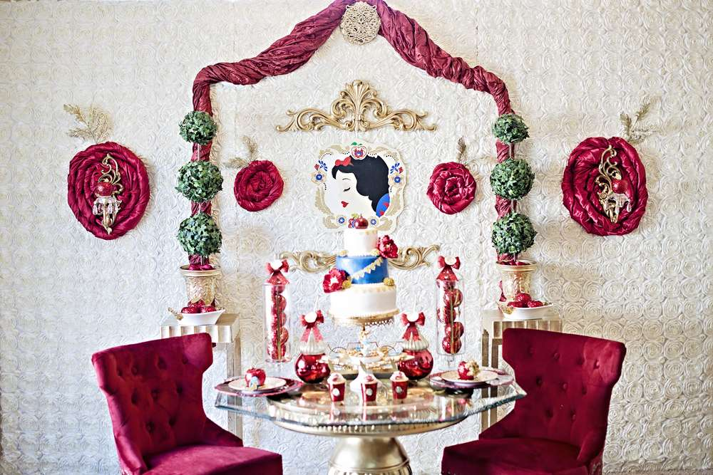 snow white party opulent treasures