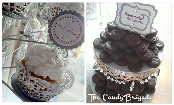 Candy Bar with Tiered Cake Stand & Chandelier Cupcake Stand