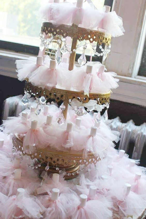 Chandelier 3 Tier Dessert Stand | Nail Polish Tutu Party Favors | Wedding Ideas