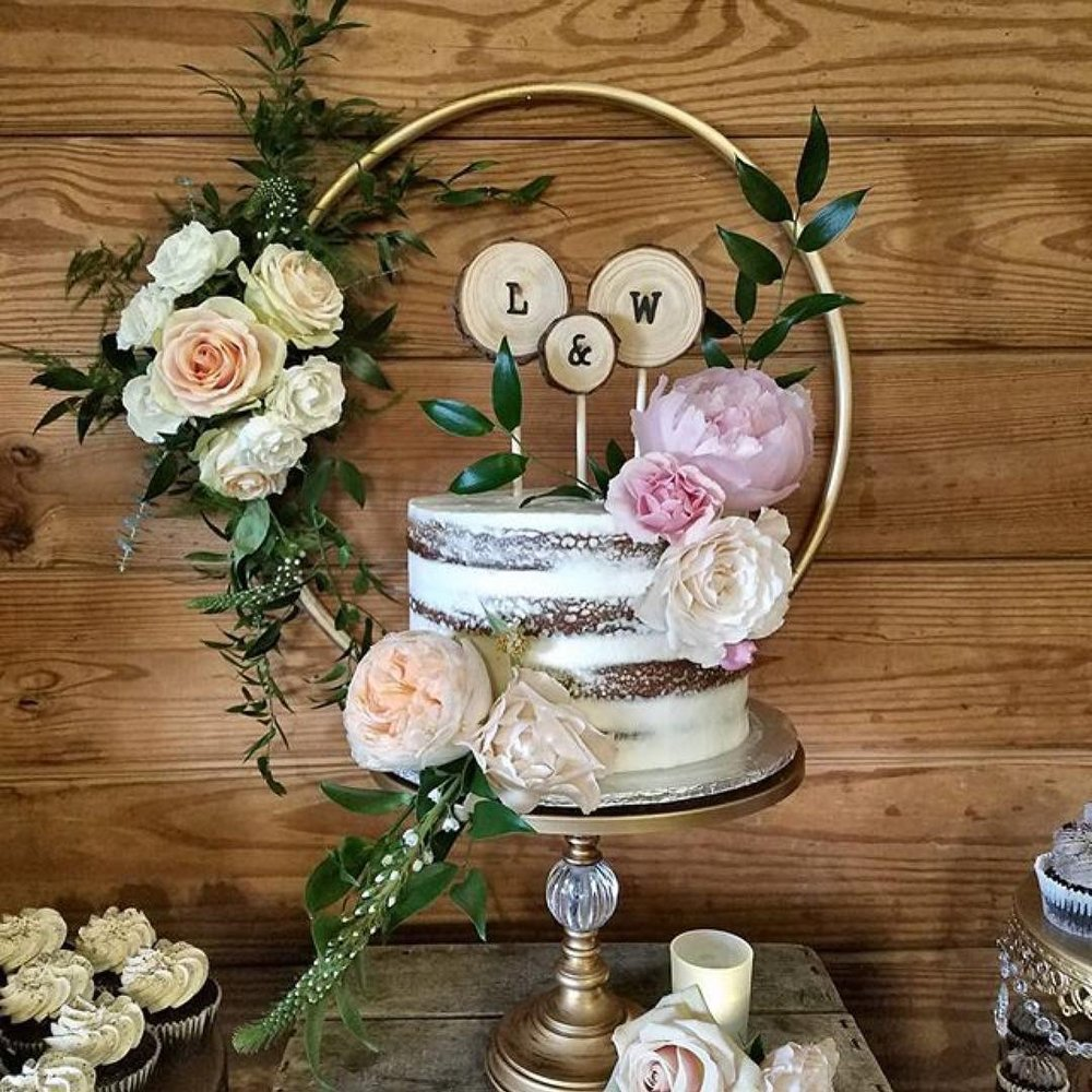 Orb Base Gold Cake Stand | Naked Cake