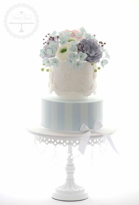 Cake Design:  Sweet Love Cake Couture    Opulent Treasures  White Chandelier Cake Stand