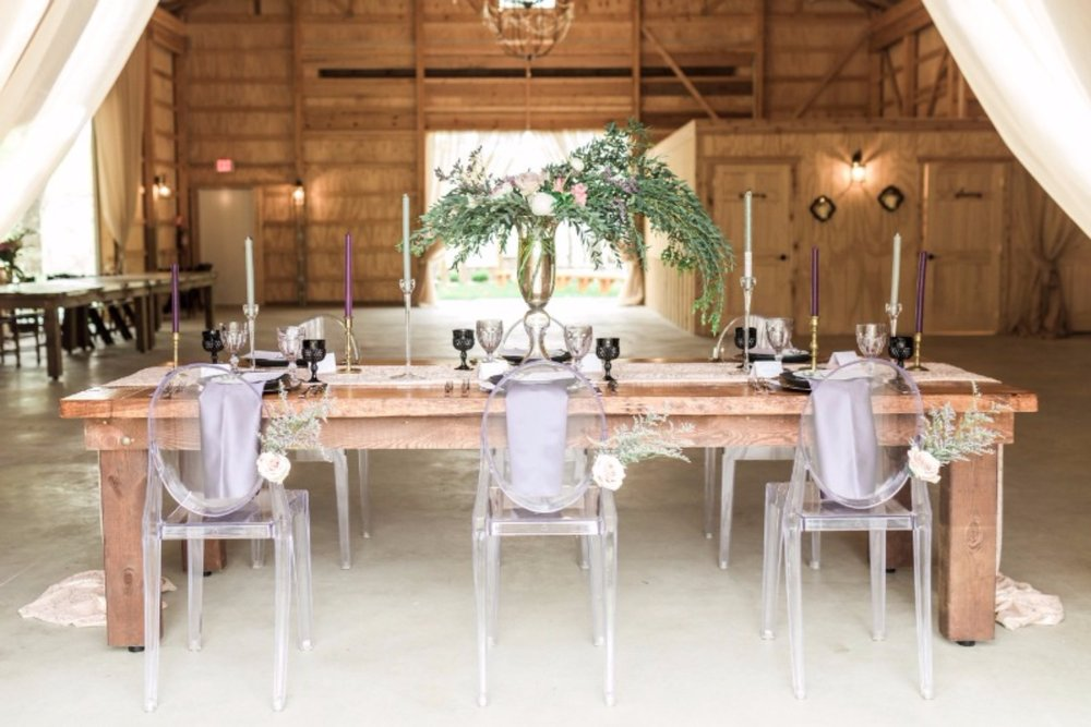 Lucite chairs, let's just stop there.   The Rental Company  Coordinators & Stylists:  Forever and a Day Events  Photographers:  Laurenda Marie Photography