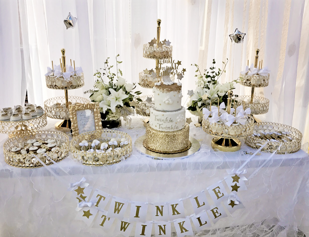 Twinkle, Twinkle, Little Star Dessert Table featuring Opulent Treasures Bling Dessert Stands and Trays ~  SHOP the collection here!
