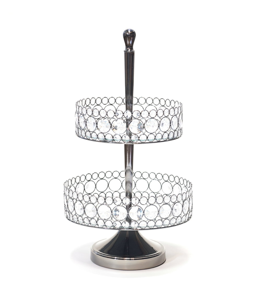 Bling Two-Tiered Serving Tray