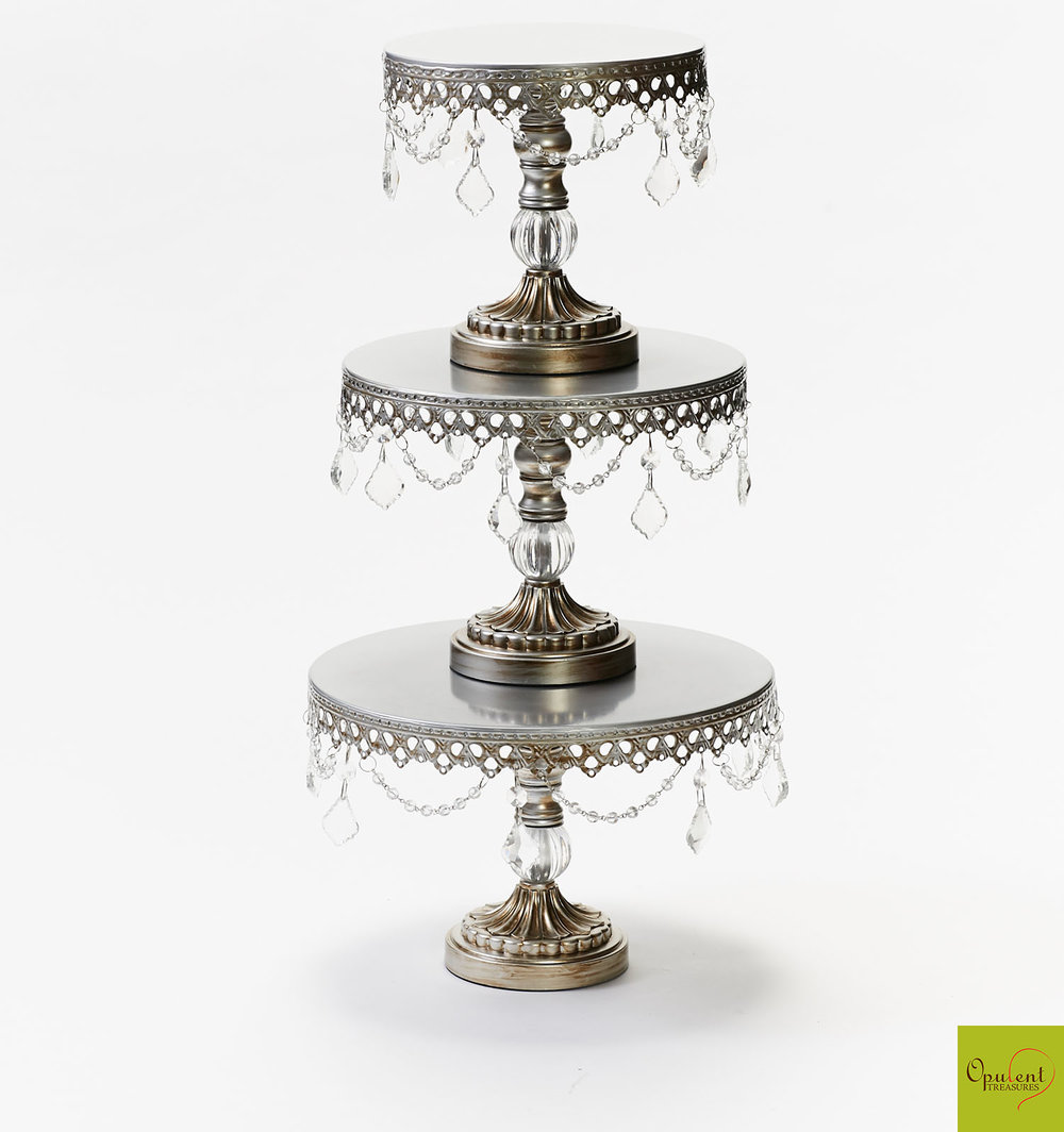 Antique Silver Chandelier Cake Stand
