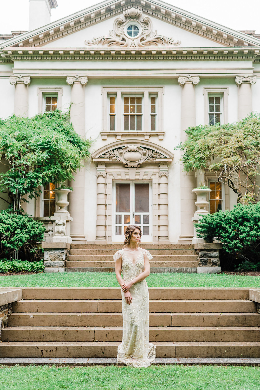 photography:   Megan Harris Photography     Gold & Cream Beaded Gown by  Gossmer  ...     @shopgassmer     Venue...     Liriodendron Mansion , Bel Air, MD