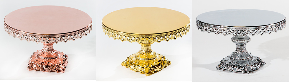 "Opulent Treasures 12"" Cake Stand with Baroque Base"