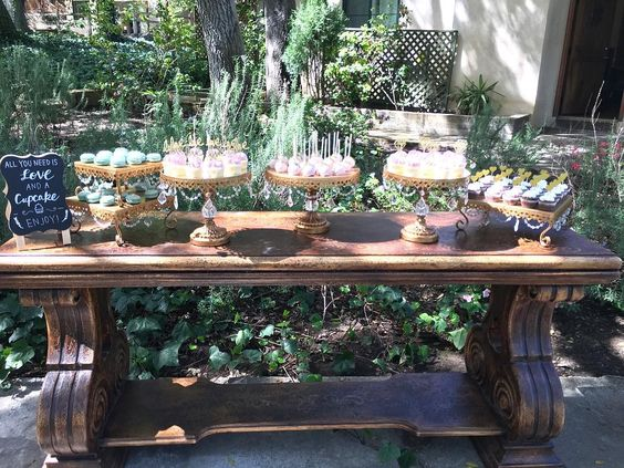 Wedding Cupcake Table by  Frost It Cakery