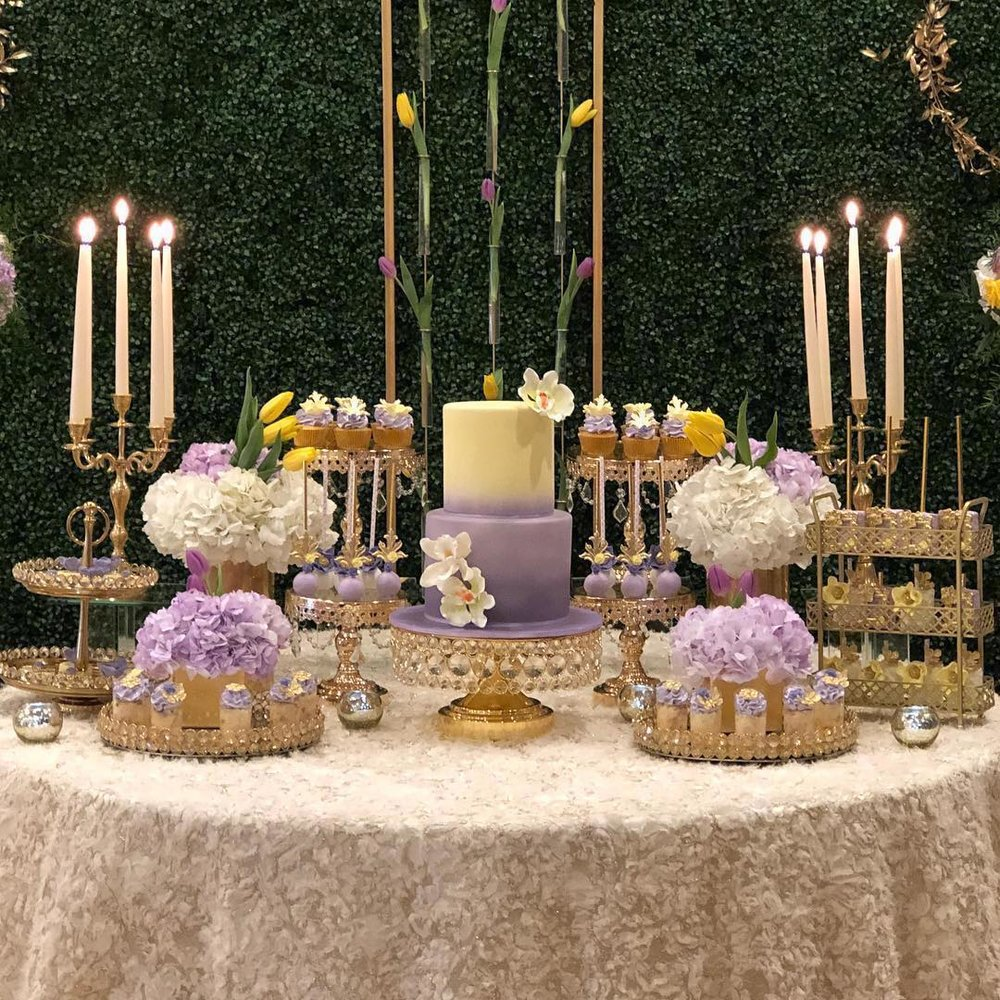 shiny gold bling cake stand by opulent treasures.jpg