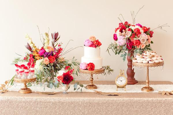 Opulent Treasures  set of three chandelier cake stands in antique gold