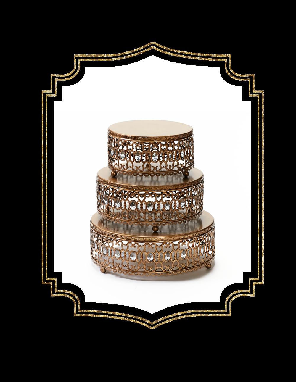 Gold Jeweled Cake Stand